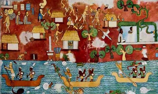 El transporte marítimo de los mayas